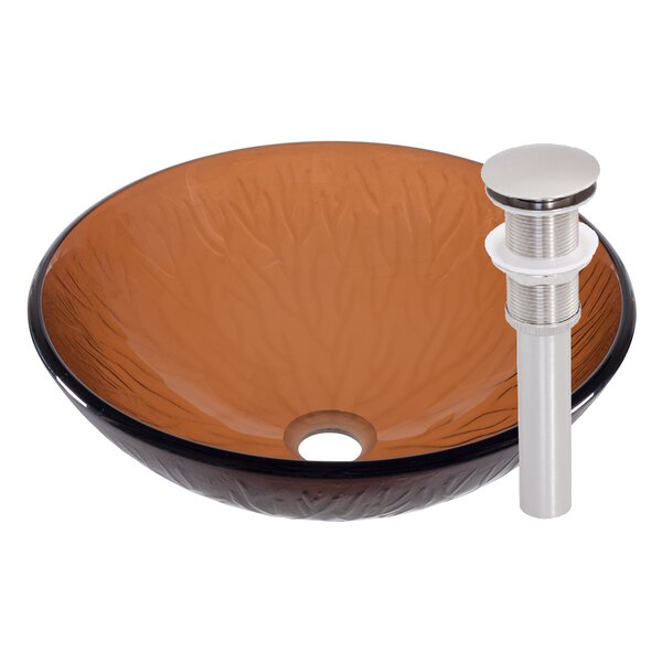 Gambo Glass Circular Vessel Bathroom Sink by Novatto