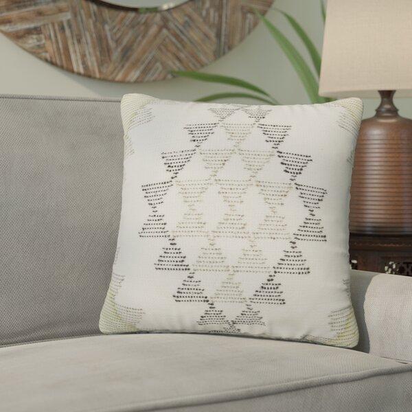 Elita Tribal Pattern Square Throw Pillow by Mistana