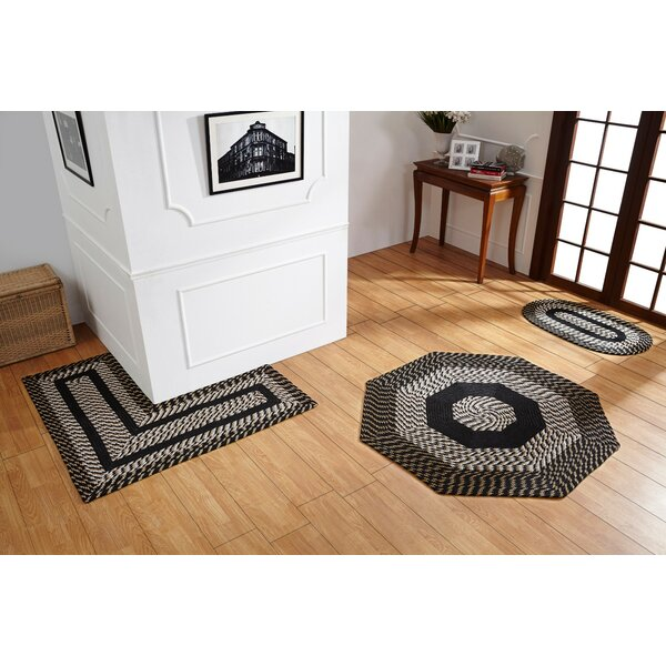 Samara Black/White Indoor/Outdoor Area Rug by August Grove