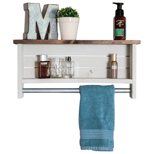 Volpe Farmhouse Wall Shelf with Towel Bar by Millw