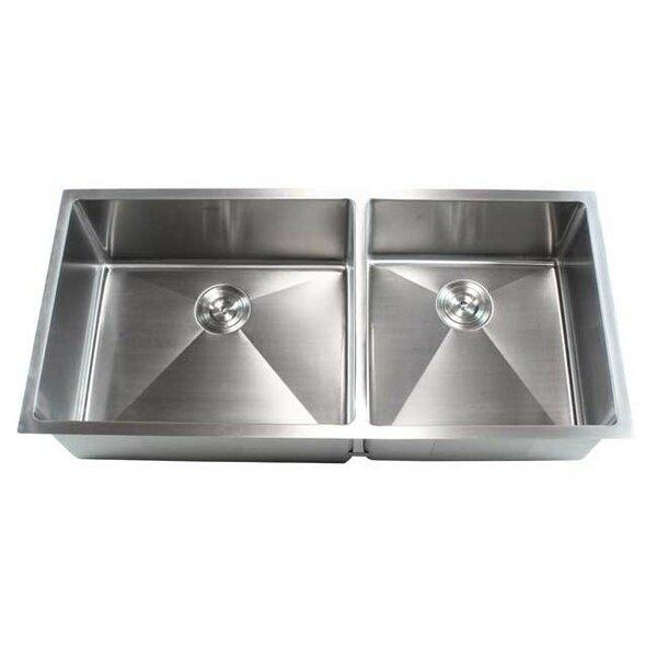 Ariel 42 L x 19 W Double Bowl Undermount Kitchen Sink