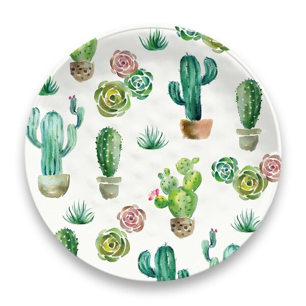 Gaeta Desert Garden Melamine Dinner Plate (Set of 6) by Ivy Bronx