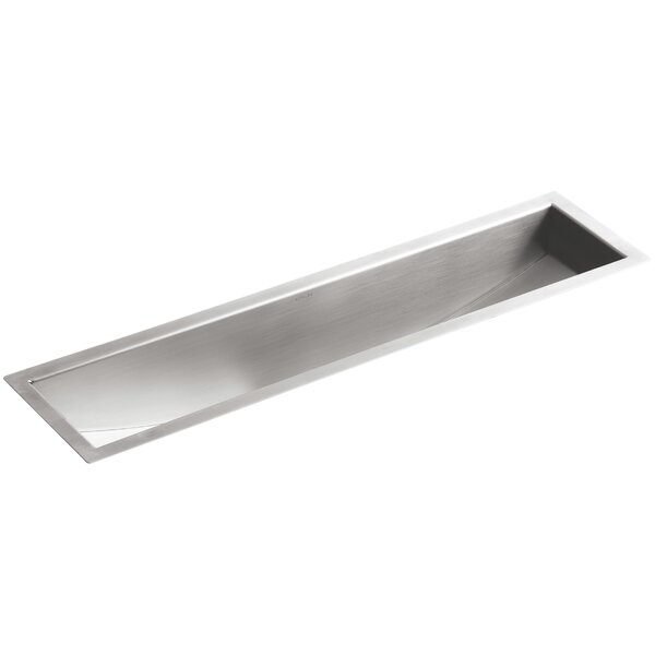 Undertone 43 L x 8-1/4 W x 6-5/16 Under-Mount Single-Bowl Trough Kitchen Sink by Kohler