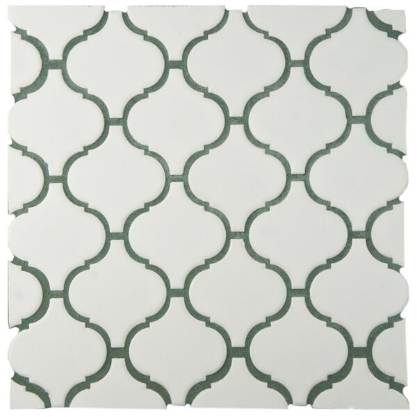 Retro Lantern 2.87 X 3.06 Porcelain Mosaic Tile in Matte White by EliteTile