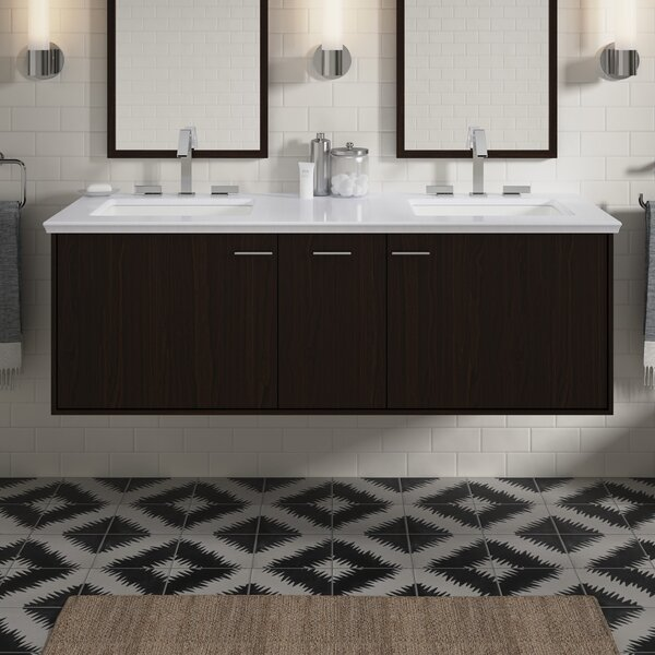 Jute™ 51 Wall-Mounted Single Bathroom Vanity Set by Kohler