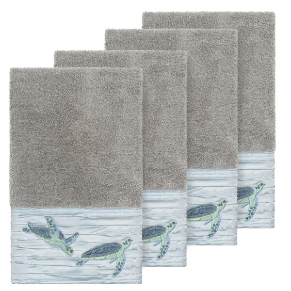Swick Embellished Turkish Cotton Hand Towel (Set of 4) by Bay Isle Home