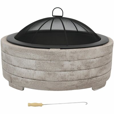 Outdoor Fireplaces & Fire Pits You'll Love in 2020 | Wayfair on Quillen Steel Wood Burning Outdoor Fireplace id=89161