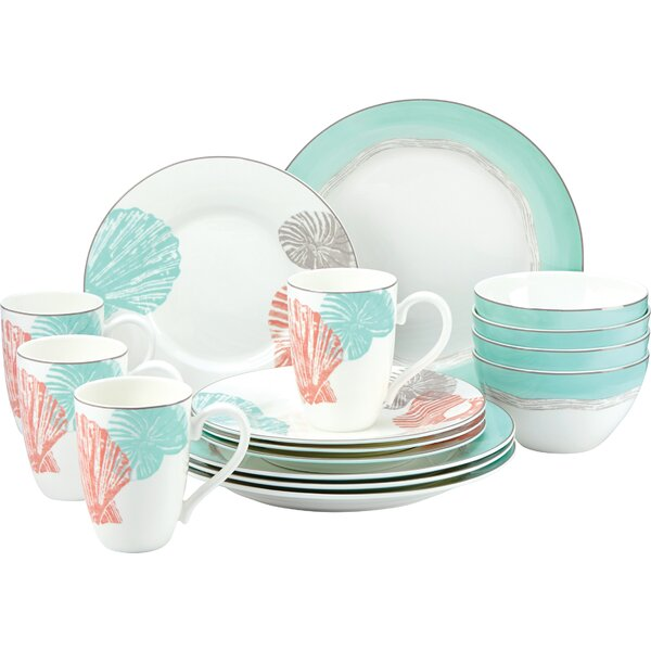 Sandy Point 16 Piece Dinnerware Set by Lenox