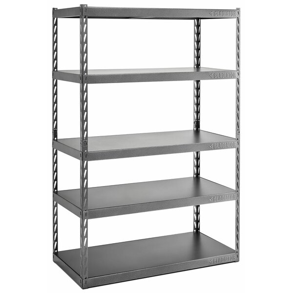 Gladiator® EZ Connect Rack 48 Wide EZ Connect Rack with Five 24 Deep Shelves by Gladiator