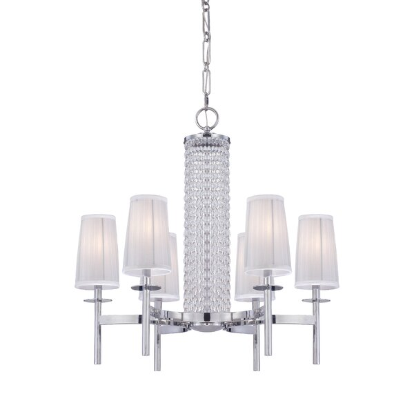 Kelsi 6-Light Shaded Chandelier by Mercer41