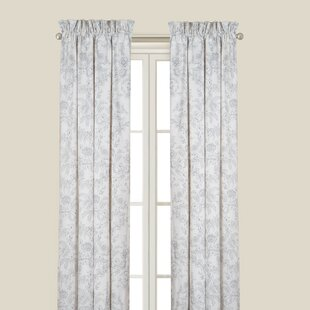 fancy plush design moorish tile curtain. Karen Gray Single Curtain Panel Trellis Curtains  Wayfair