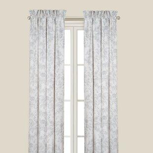 Karen Grey Single Curtain Panel