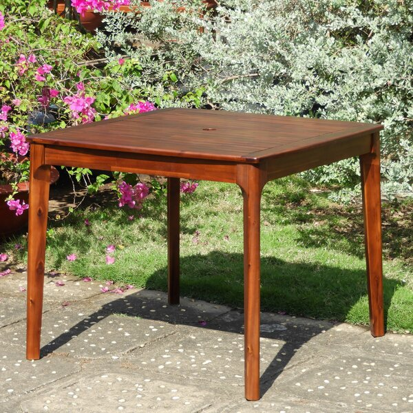 Bridgehampton Square Patio Wooden Dining Table by Mistana