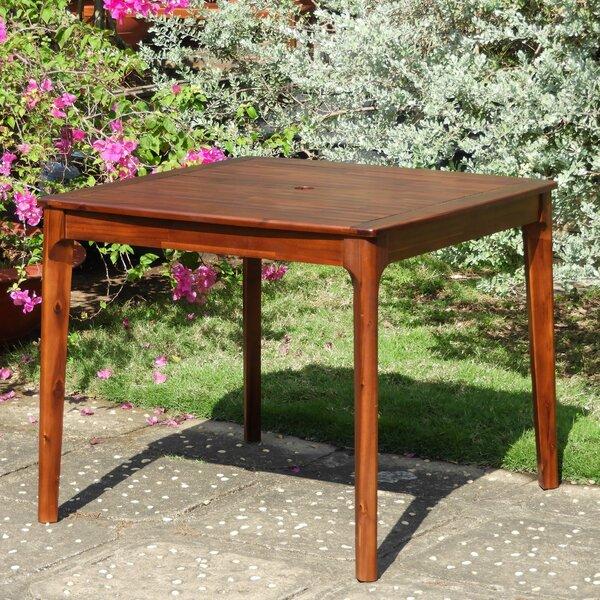 Bridgehampton Square Patio Wooden Dining Table by Mistana