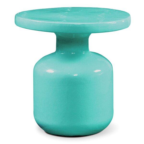 Bottle Stone/Concrete Side Table by Seasonal Living