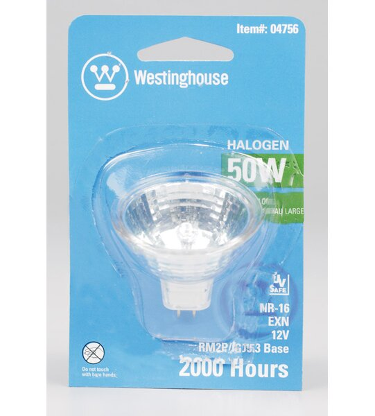 50W GU5.3 Halogen Floodlight Light Bulb by Westinghouse Lighting