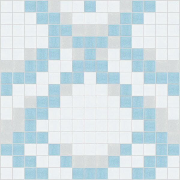 Urban Essentials Subtle Scales 3/4 x 3/4 Glass Glossy Mosaic in Breeze Blue by Mosaic Loft