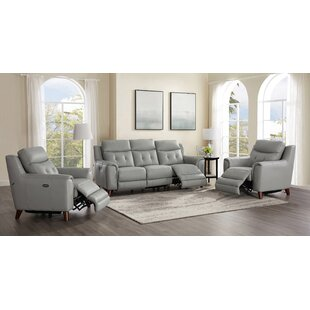 Tortuga Power 3 Piece Leather Reclining Living Room Set by Wrought Studio™