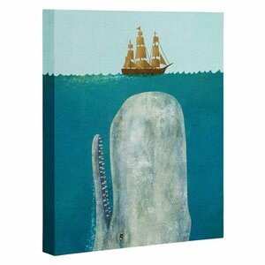 The Whale Graphic Art on Wrapped Canvas by Deny Designs