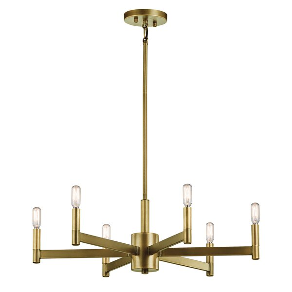 Gavin 6-Light Candle Style Chandelier by Langley Street