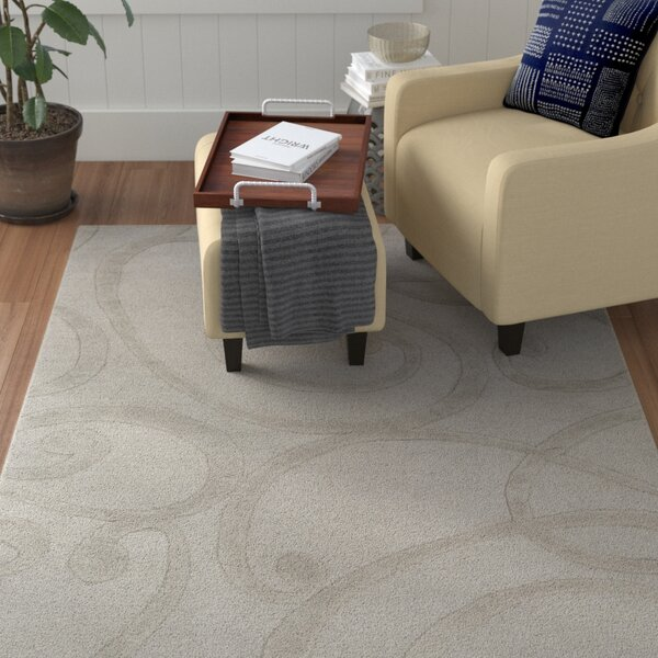 Allegro Hand-Tufted Stone Area Rug by Winston Porter