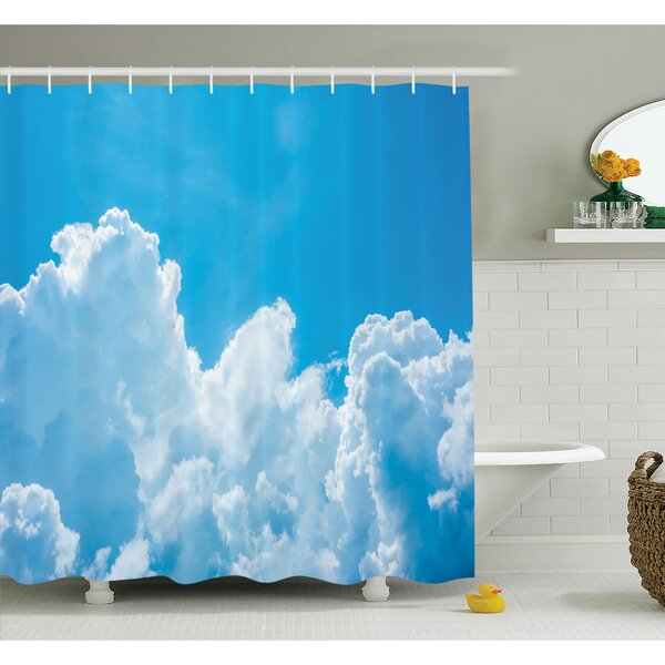 Nature Clouds Sky Peace Heaven Shower Curtain Set by Ambesonne