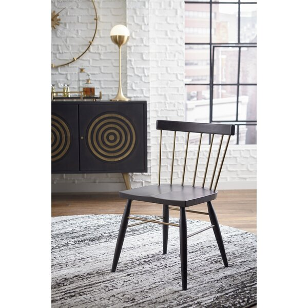 Stelly Solid Wood Dining Chair (Set of 2) by Brayden Studio