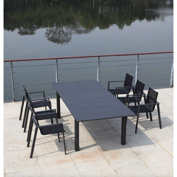 Ingram Extendable Metal Dining Table by Bayou Breeze