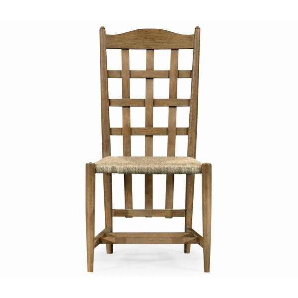 Solid Wood Slat Back Side Chair in Walnut