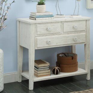 Compare prices Emig Rectangle Wood Console Table ByHighland Dunes