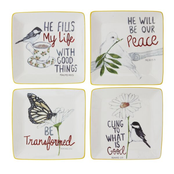 Melodee 4 Piece Decorative Plate Set by August Grove