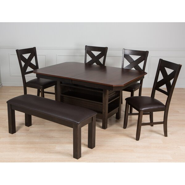 6 Piece Solid Wood Dining Set by AW Furniture
