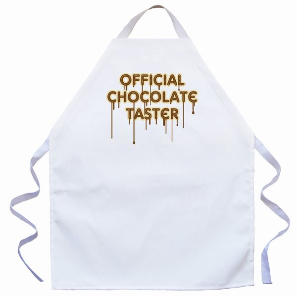 Chocolate Taster Apron in Natural by Attitude Aprons by L.A. Imprints