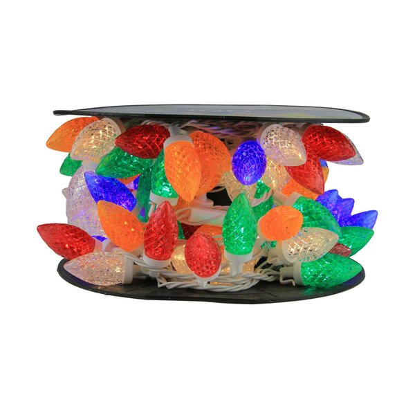 100 Piece Commercial Length LED Faceted C9 Christmas Light on Spool Spacing Set by Northlight Seasonal