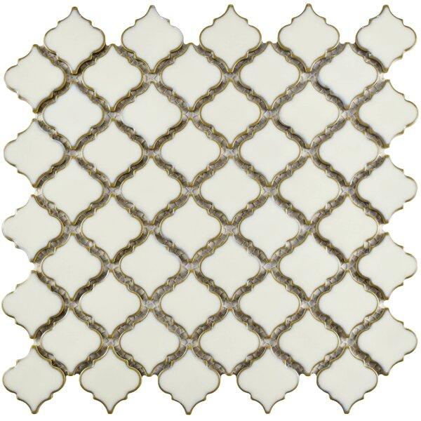 Pharsalia 12.38 x 12.5 Porcelain Mosaic Floor and Wall Tile in Snowcap White by EliteTile