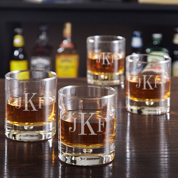 Bryne Personalized 10.5 oz. Whiskey Glass (Set of 4) by Home Wet Bar
