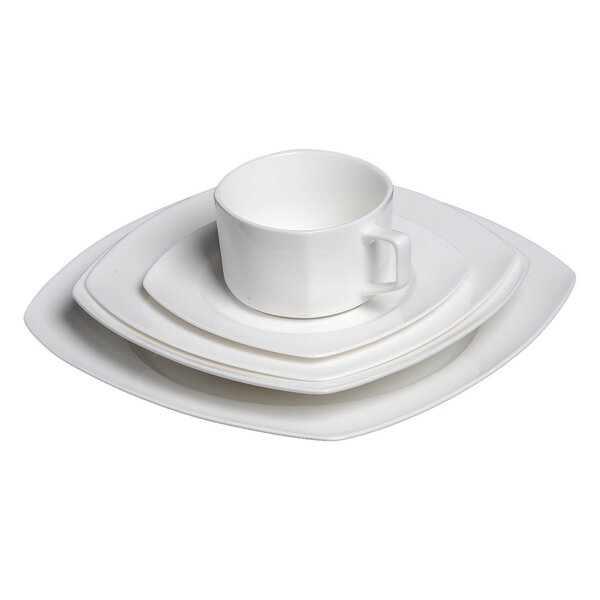 Bone China 20 Piece Dinnerware Set, Service for 4 by Flato Home Products