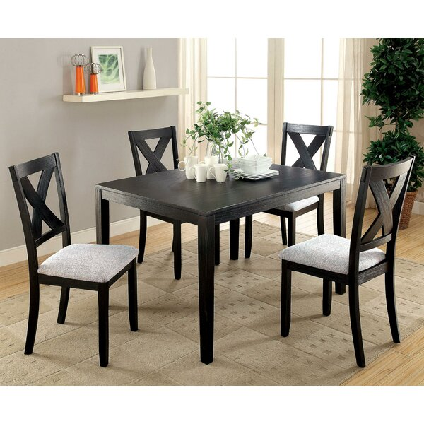 Orcutt 5 Piece Counter Height Solid Wood Dining Set by Winston Porter