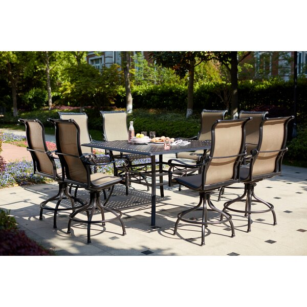 Milliron 9 Piece Bar Height Dining Set by Canora Grey