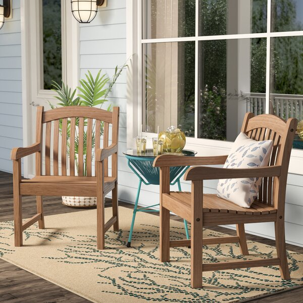 Brighton Teak Patio Dining Chair (Set of 2) by Sol 72 Outdoor