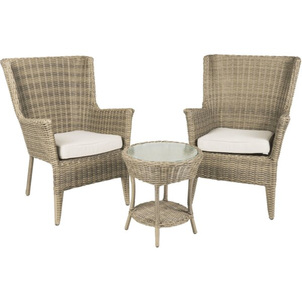 Peng 3 Piece Set with Cushions by Highland Dunes