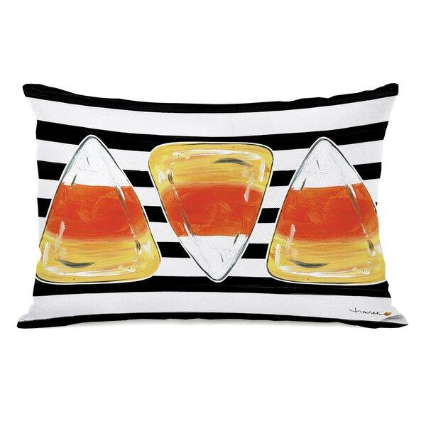 Buffum Candy Corn Throw Pillow by Ivy Bronx