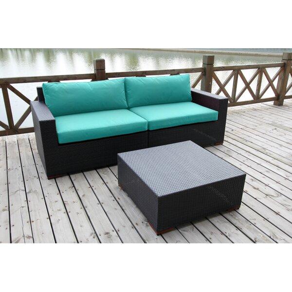 Scholtz 3 Piece Sunbrella Sofa Set with Cushions by Bay Isle Home
