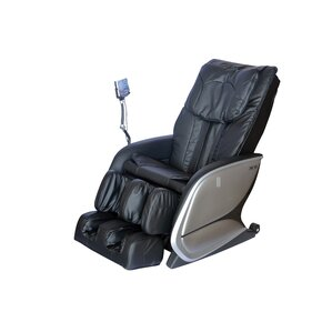 Faux Leather Reclining Massage Chair by Repose