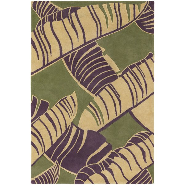 Fitzgerald Green Area Rug by Bay Isle Home