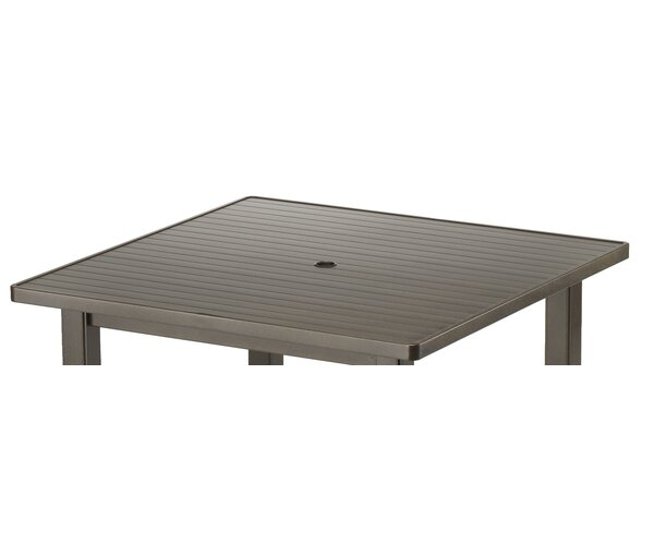 Aluminum Slat Square 36 Chat Table by Telescope Casual