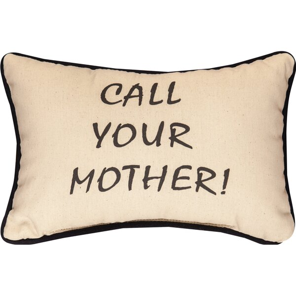 Call Your Mother Cotton Lumbar Pillow by Manual Woodworkers & Weavers