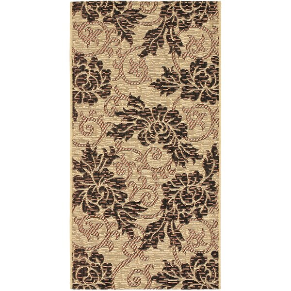 Wysocki Creme/Black Indoor/Outdoor Area Rug by August Grove