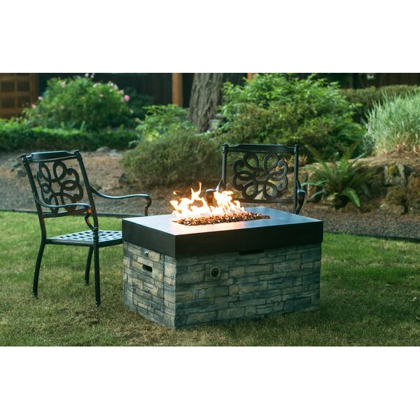 Stone Gas Fire Pit Table by Tretco