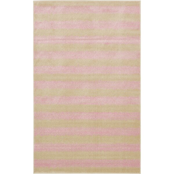 Travis Pink/Green Area Rug by Viv + Rae